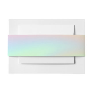 Pastel Rainbow of Color Invitation Belly Band