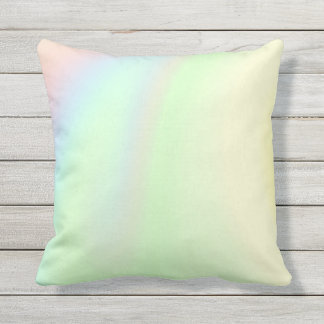 Pastel Rainbow of Color Outdoor Pillow