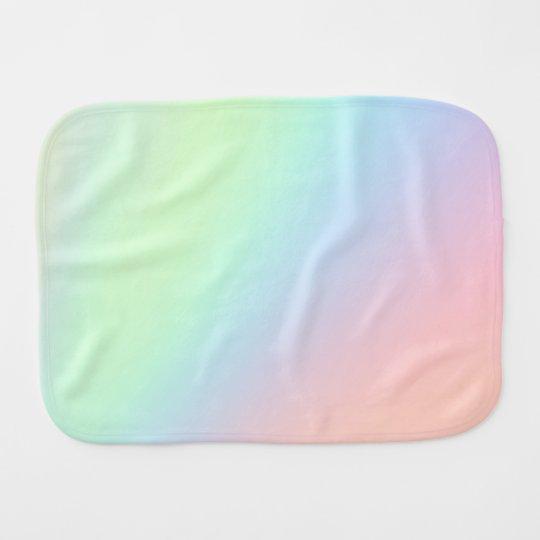 Pastel Rainbow of Colour Burp Cloth
