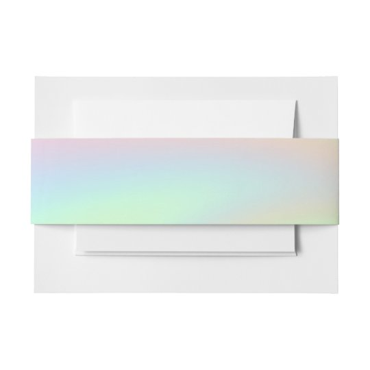 Pastel Rainbow of Colour Invitation Belly Band
