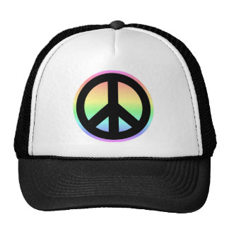 Pastel Rainbow Peace Sign Hats