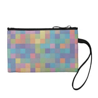 Pastel Rainbow Pixel Pattern Coin Purse