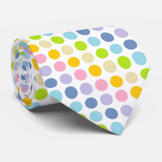 Pastel Rainbow Polka Dots Tie