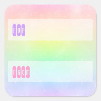Pastel Rainbow Sky Gift Tag