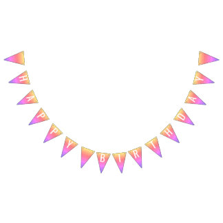 Pastel Rainbow Sparkle Glitter Design Customize Bunting Flags