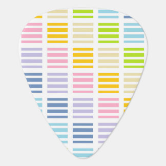 Pastel Rainbow Squares and Stripes Guitar Pick