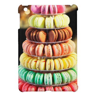 Pastel Rainbow Stacked French Macaron Cookies Case For The iPad Mini