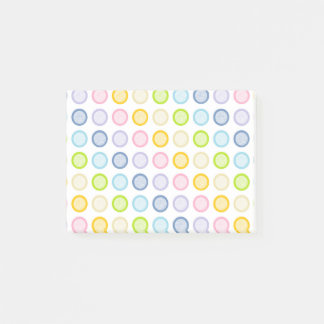 Pastel Rainbow Static Circles Post-it Notes