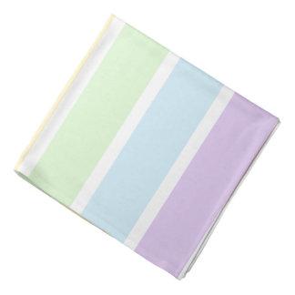 Pastel Rainbow Striped Bandana