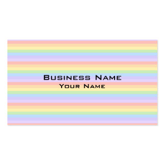 Pastel Rainbow Stripes. Business Card Template