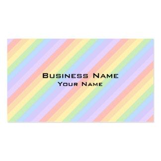 Pastel Rainbow Stripes. Business Card