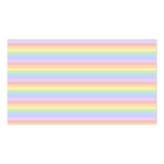 Pastel Rainbow Stripes. Business Cards