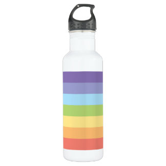 Pastel rainbow stripes Gay Pride 710 Ml Water Bottle