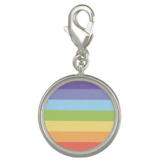Pastel rainbow stripes Gay Pride Charm