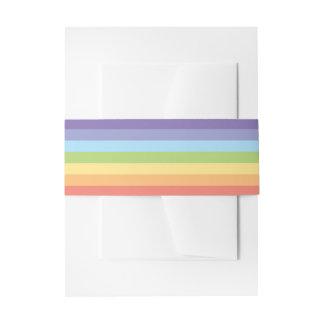 Pastel rainbow stripes Gay Pride Invitation Belly Band