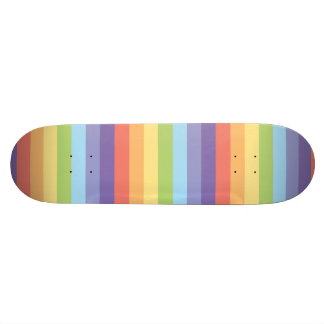 Pastel rainbow stripes Gay Pride Skateboard Deck