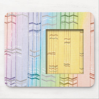 Pastel Rainbow Stripes With Insert Mouse Pad