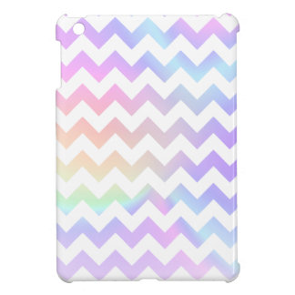 Pastel Rainbow White Chevron Cover For The iPad Mini