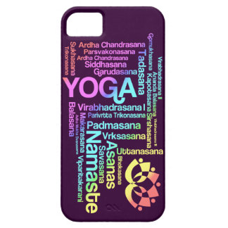 Pastel Rainbow Yoga Positions in Sanskrit iPhone 5 Covers
