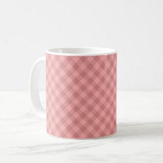 Pastel Red Tartan Mug