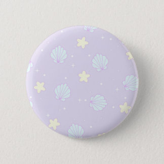 Pastel Repeat Pattern Kawaii 2 Inch Round Button