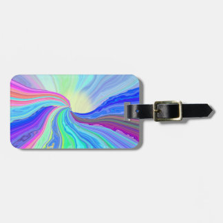 Pastel River Luggage Tag