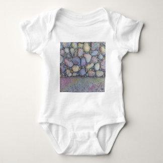 Pastel River Rock and Pebbles Baby Bodysuit