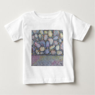 Pastel River Rock and Pebbles Baby T-Shirt