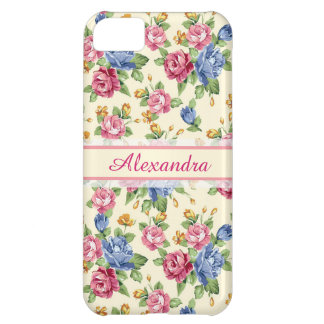 Pastel Romantic blossom Pink, Red, Blue Roses name Cover For iPhone 5C