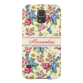 Pastel Romantic blossom Pink, Red, Blue Roses name Galaxy S5 Case