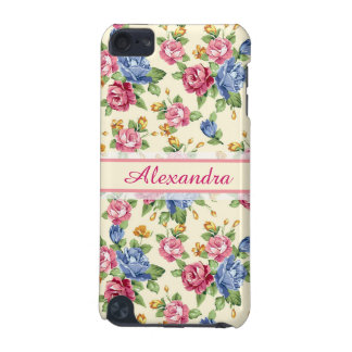 Pastel Romantic blossom Pink, Red, Blue Roses name iPod Touch (5th Generation) Cover