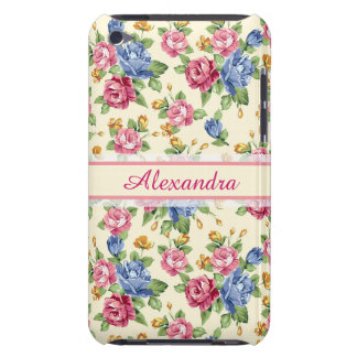 Pastel Romantic blossom Pink, Red, Blue Roses name iPod Touch Covers