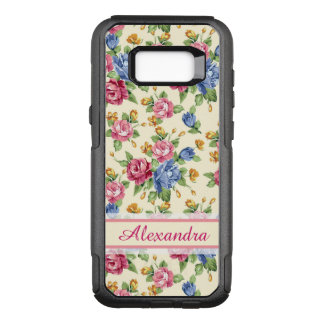 Pastel Romantic blossom Pink, Red, Blue Roses name OtterBox Commuter Samsung Galaxy S8+ Case