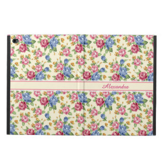 Pastel Romantic blossom Pink, Red, Blue Roses name Powis iPad Air 2 Case