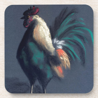 Pastel Rooster Chicken Coaster