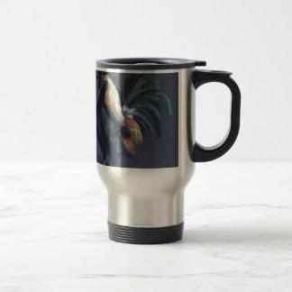 Pastel Rooster Chicken Travel Mug