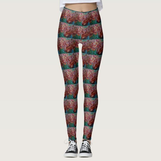 Pastel Rose Pattern Leggings