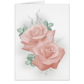 Pastel Roses Card