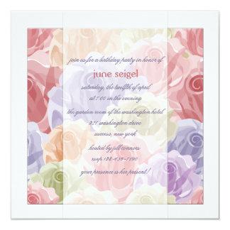Pastel Roses Invitation