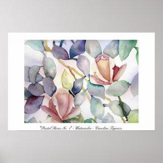 Pastel Roses No. 1 - Caroline Tigeress Poster
