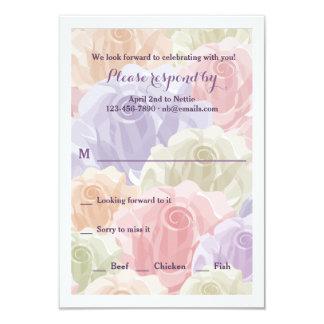 Pastel Roses RSVP Card