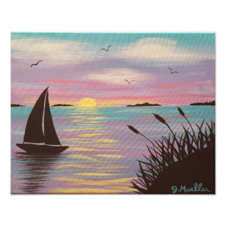 Pastel Sailboat Photo Print