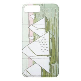 Pastel Sailboats Faux Tile iPhone Case