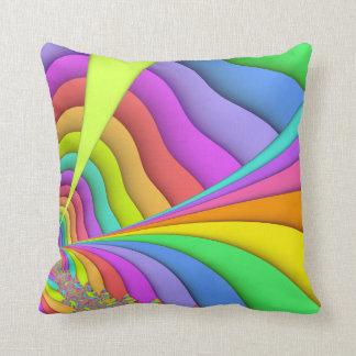 Pastel Sand Art Fractal Throw Pillow