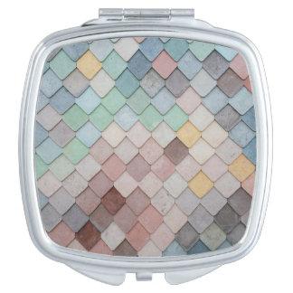 Pastel Scales Compact Mirror