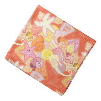Pastel Sea Creature Pattern Do-rag
