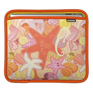 Pastel Sea Creature Pattern iPad Sleeves
