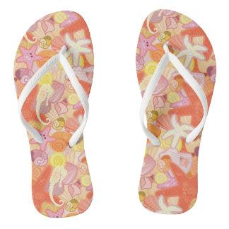 Pastel Sea Creatures Flip Flops
