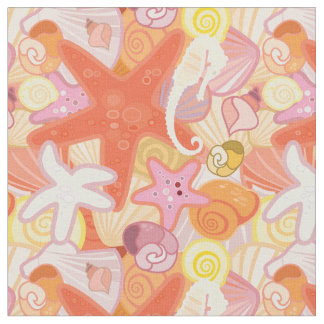 Pastel Sea Creatures | Monogram Fabric