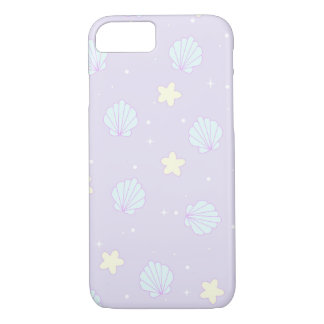 Pastel Sea Shell Star Pattern iPhone 8/7 Case